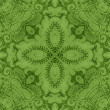 Vintage Green Floral Tapestry — Stock Photo