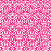 Seamless Hot Pink & White Damask — Stock Photo