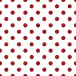 Stock Photo: Seamless Red & White PolkDot