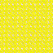 Seamless Yellow & White Swirls — 图库照片