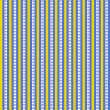 Blue & Yellow Floral Stripe — Stock Photo