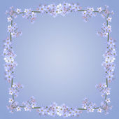 Blue Floral Frame Gradient — Stock Photo