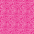 White on Hot Pink Vine Pattern — Stock Photo