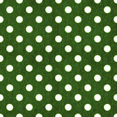 Seamless Green & White Polka Dot — Stock Photo
