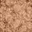 Vintage Brown Floral Tapestry — Stock Photo