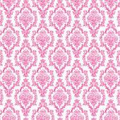 Seamless Hot Pink & White Damask — Stock Photo