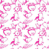 Seamless Flying Pink Pigs — Stock Photo