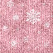 белые снежинки на розовый блеск полосы — Стоковое фото