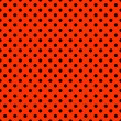Foto Stock: Bright Red & Black Polkadot Pattern