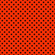 Stockfoto: Bright Red & Black Polkadot Pattern