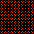 Black & Bright Red Polkadot Pattern — Foto de stock #13471884