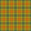Seamless Colorful Warm Plaid - Stock Photo