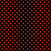 Black & Bright Red Polkadot Pattern — Stockfoto