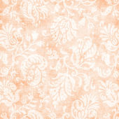 Vintage Pale Peach Floral Tapestry — Stock Photo