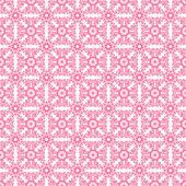 Seamless Pink & White Retro Damask Pattern — Stock Photo