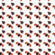 Seamless Ladybug Background - Stock Photo