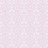 Seamless White & Lavender Damask — Stock Photo