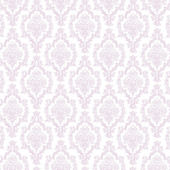 Seamless Lavender & White Damask — Stock Photo