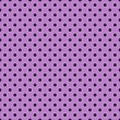 Постер, плакат: Deep Purple Polkadots on Lavender