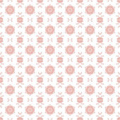 Seamless Pink & White Floral Damask Background — Stock Photo