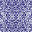 Seamless Navy Blue & White Damask — стоковое фото #14832353