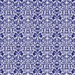 Stockfoto: Seamless Navy Blue & White Damask
