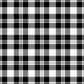Seamless Black & White Plaid — Stock Photo