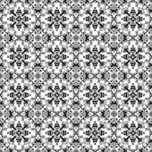 Bezszwowe czarny & biały kalejdoskop adamaszek — Zdjęcie stockowe