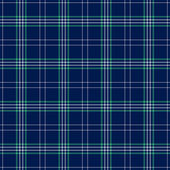 Seamless Navy Blue, Green, & White Plaid — Stock Photo