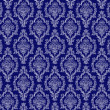 Stock Photo: Seamless Navy Blue & White Damask