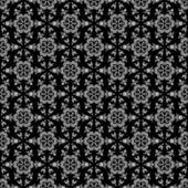 シームレスな黒 & 白い万華鏡ダマスク — ストック写真