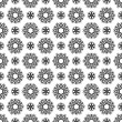 Seamless Black & White Kaleidoscope Damask — Stock Photo
