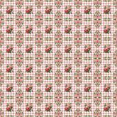 Seamless Roses on Pink Gingham — Stock Photo
