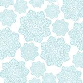 柔和的蓝色 & 白色花卉蜡染 — 图库照片