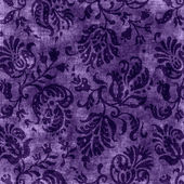 Vintage Purple Floral Tapestry — Stock Photo