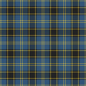 Seamless Blue & Black Plaid — Foto de Stock