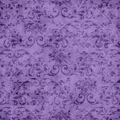 Purple Floral Tapestry Pattern — Stock Photo