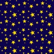 Seamless Gold Stars on Deep Navy — Stock Photo
