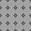 Stock Photo: Seamless Black & White Kaleidoscope Damask