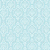Seamless Pastel Blue & White Damask — Stock Photo
