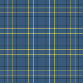 Seamless Blue, Black, & Yellow Plaid — Stock Photo