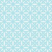 Seamless Turquoise Floral Kaleidoscopes — Stock Photo