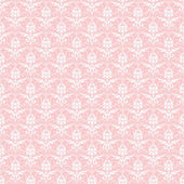 Seamless White & Pink Damask — Stock Photo
