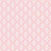 Seamless White & Pink Damask — Stock Photo