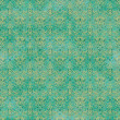 Seamless Teal Damask Pattern — Stock Photo