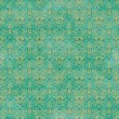 Stock Photo: Seamless Teal Damask Pattern