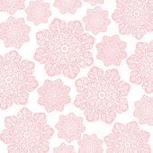 Rosa & weiße blumen batik — Stockfoto