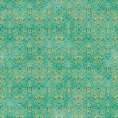 Nahtlose blaugrün damast-muster — Stockfoto