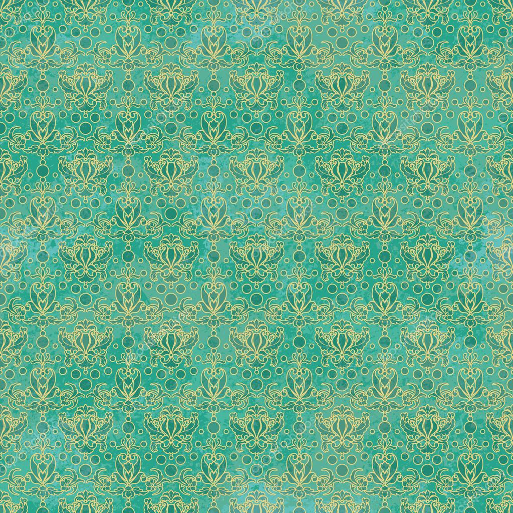 teal square pattern fabric by Michael Miller from the USA - Dots ...