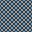 Seamless Blue & Black Diagonal Plaid - Stock Photo